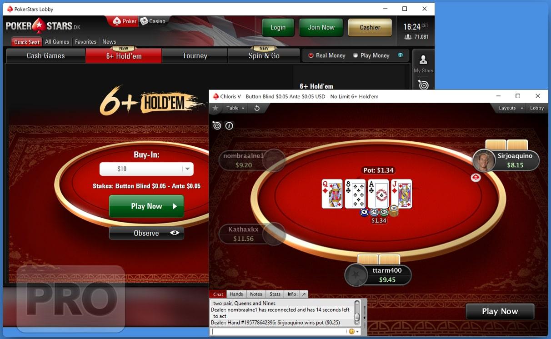 6+ Holdem в лобби PokerStars