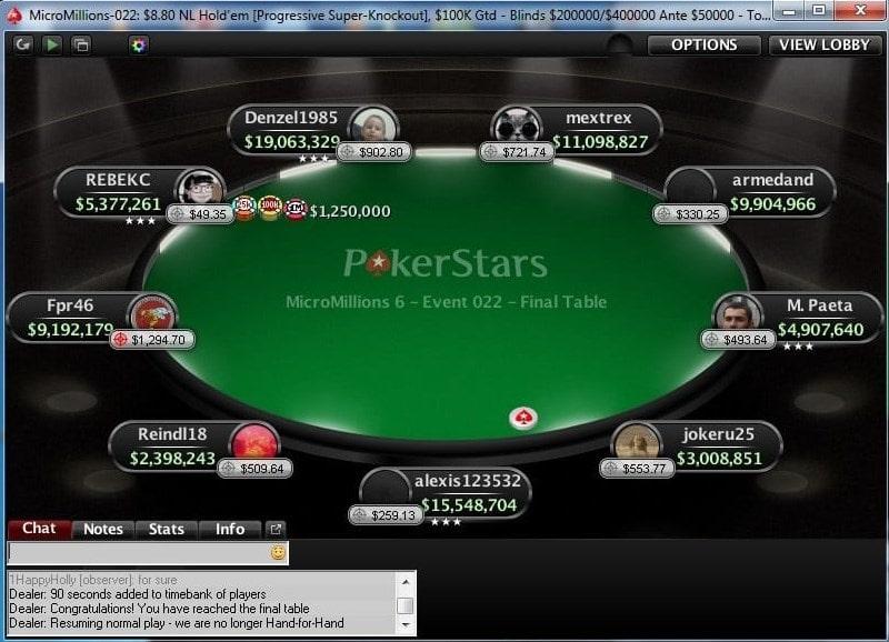 Онлайн-стол баунти-турнира