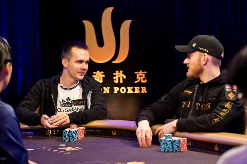 Бодяковский и Джейсон Кун в турнире по Short Deck на серии Triton Poker