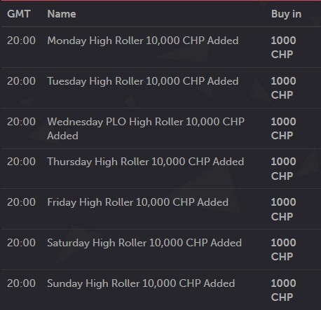 CoinPoker special addet tournaments