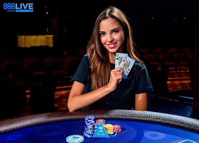 Дарья Фещенко на серии 888poker в Сочи