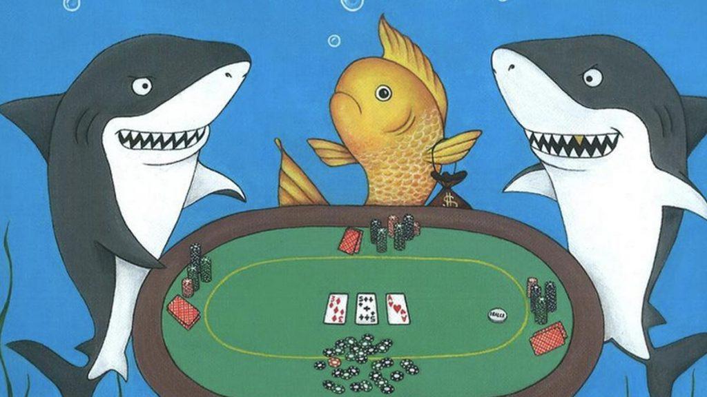 За покерным столом две акулы и золотая рыбка