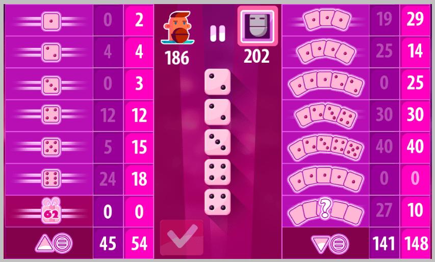 Экран с количеством очков в конце игры