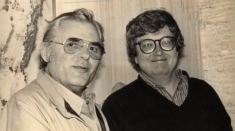 Билли Бакстер (справа) в молодости