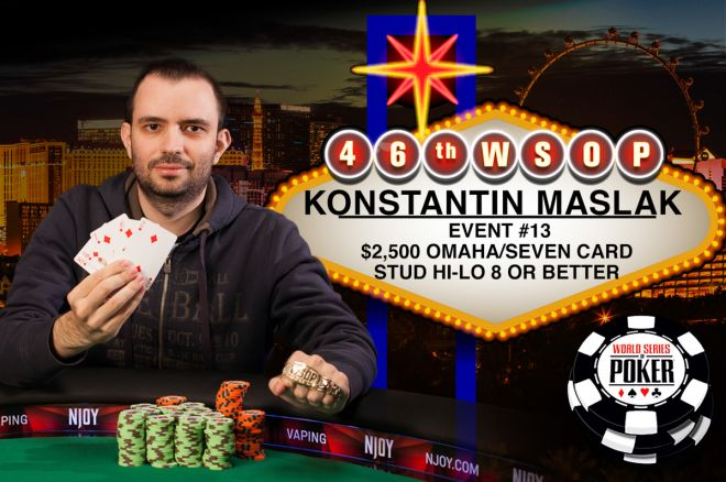 Константин Маслак - победитель турнира Omaha/Seven Card Stud Hi-Low 8-or Better на WSOP 2015 ($269,612)