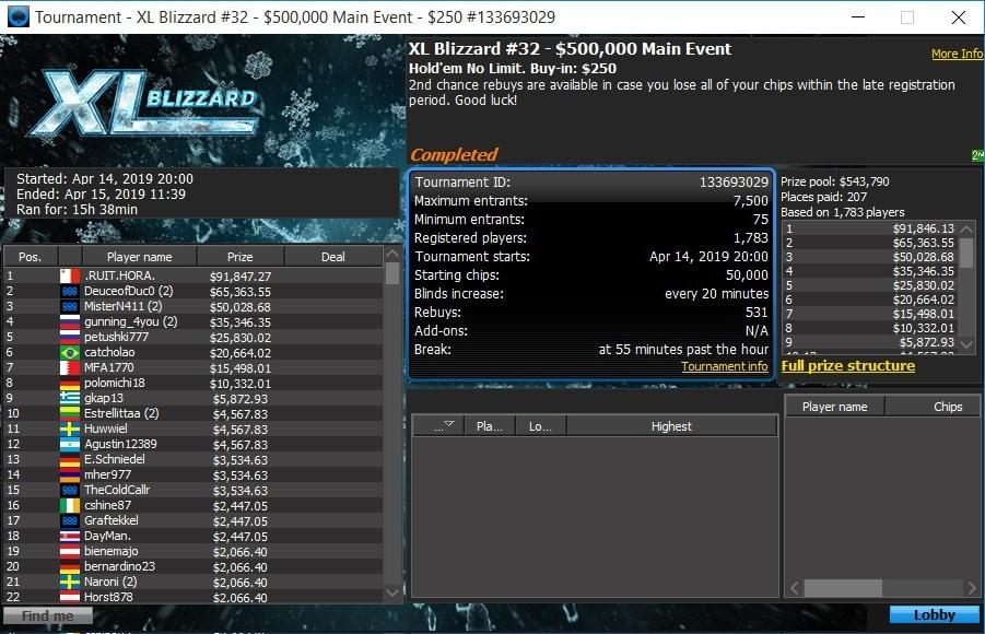 Лобби Main Event #32 GTD $500,000