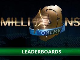 MILLIONS Online leaderboards