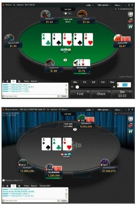 PartyPoker new table 1