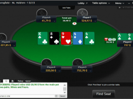PartyPoker new table