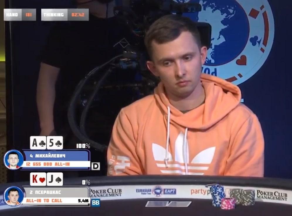 Паулюс Пшерацкас (Литва) - третье место ($18,410)