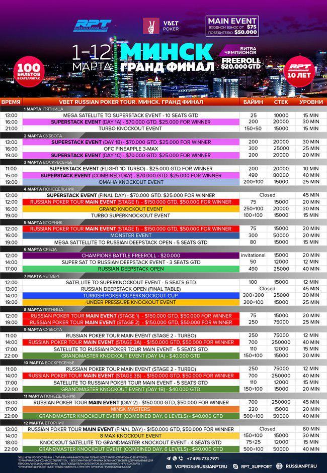Расписание RPT минск