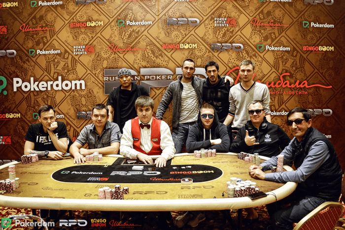 Russian Poker Open Main Event final table