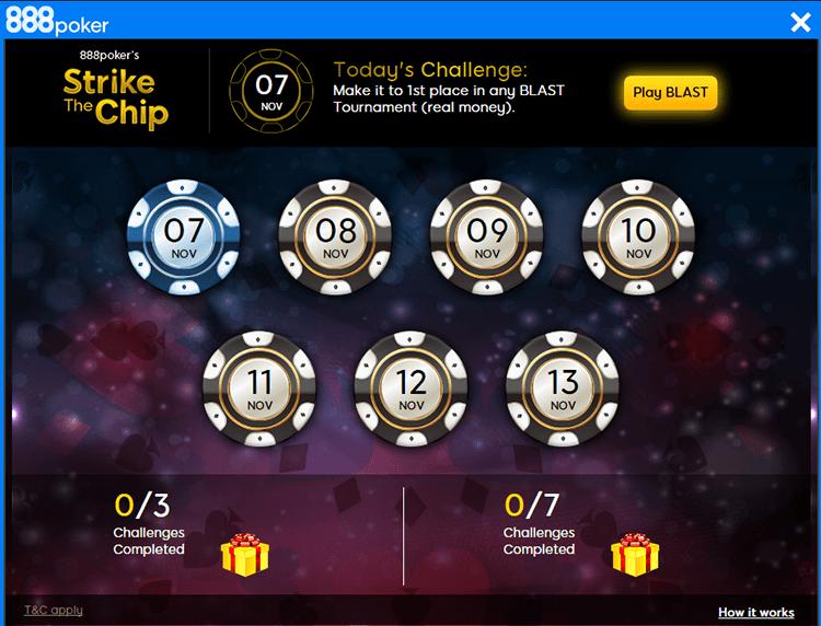 Strike a Chip 888poker lobby 2