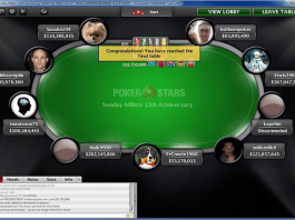 Sunday Million 12th Anniversary final table