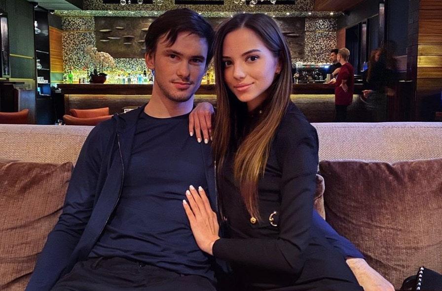 Тимофей со своей девушкой Дарьей Фещенко