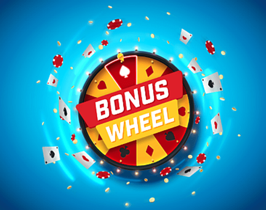 Titan Poker Bonus wheel