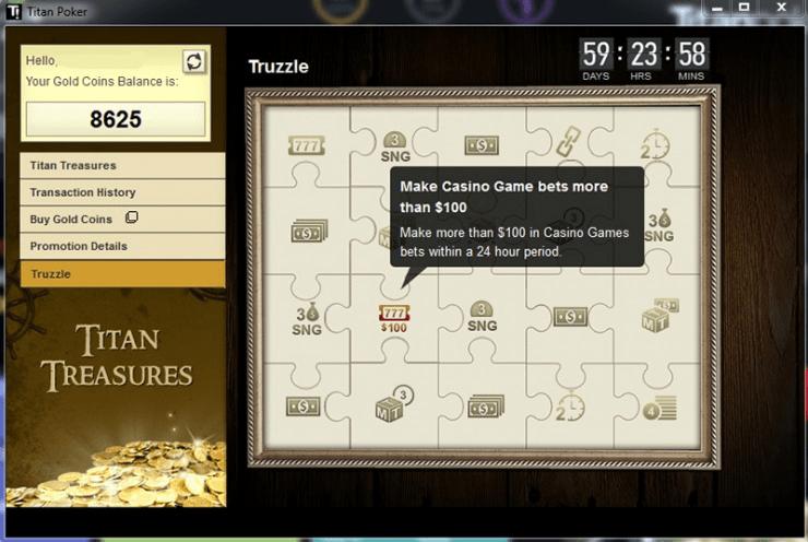 Titan Treasures casino mission