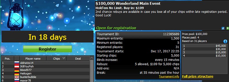 Worderland Series 888poker Main Event