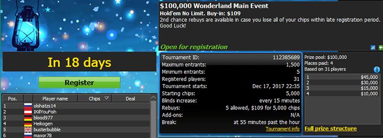 Worderland Series 888poker Main Event