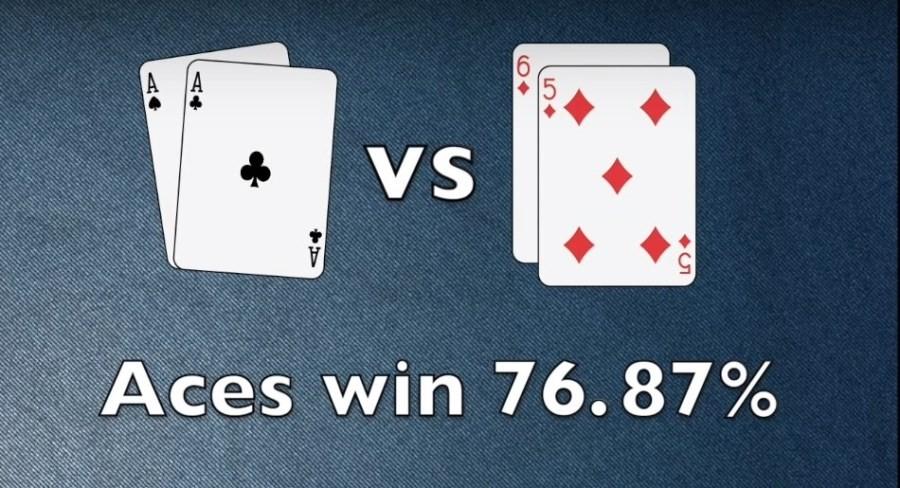 шансы AA против 65s