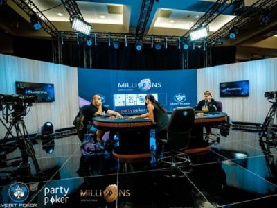 Мантас Нанартавичус и Фахредин Мустафов за финальным столом ивента Warm-Up серии MILLIONS North Cyprus