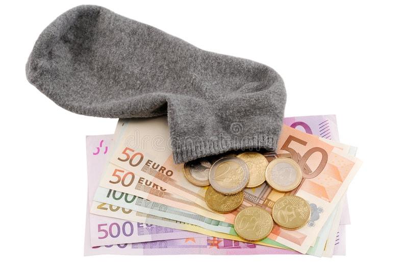 носок и деньги