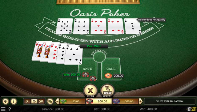 Скриншот Oasis Poker