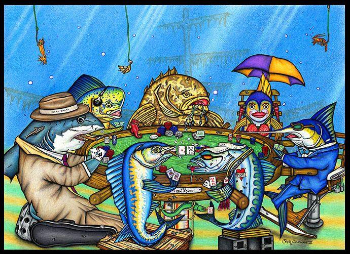 рыбы за покерным столом